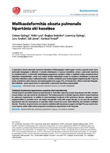 pulmonalis hipertónia kezelése)
