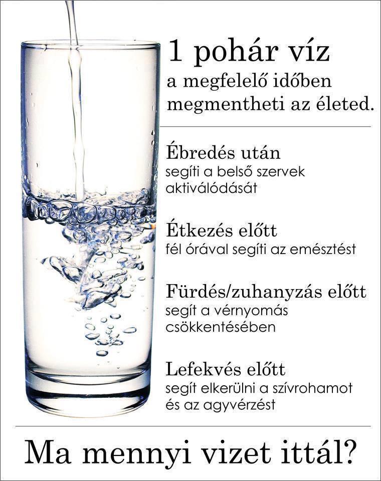 magas vérnyomás mennyi vizet kell inni