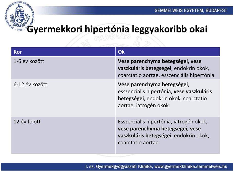 a hipertónia kórtörténete
