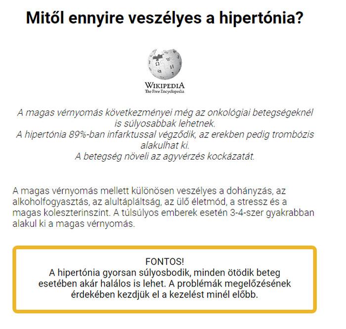 Magas vérnyomás és Sport Fórum skarlát hipertónia kezelése