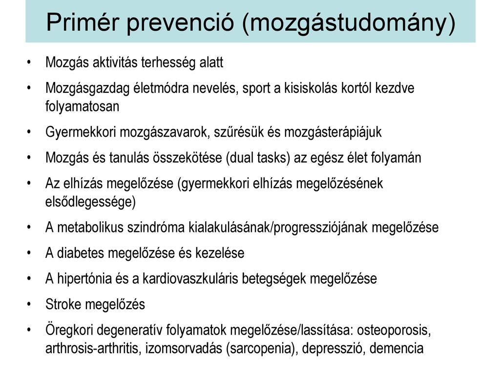 a hipertónia tercier prevenciója)