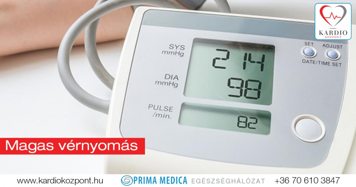magas vérnyomás megelőzése