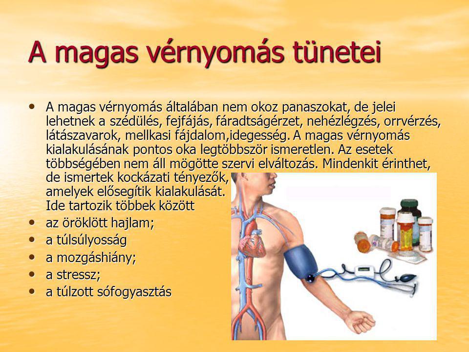 magas vérnyomással, fejfájással)