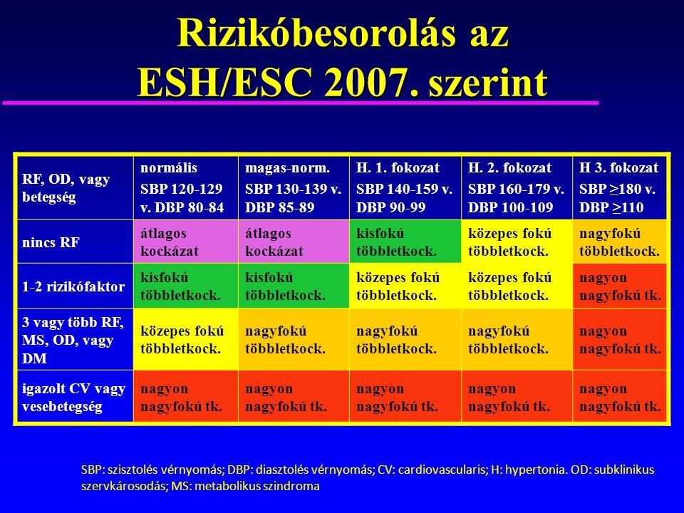as ESH/ESC irányelvek az artériás magas vérnyomás kezelésére | eLitMed