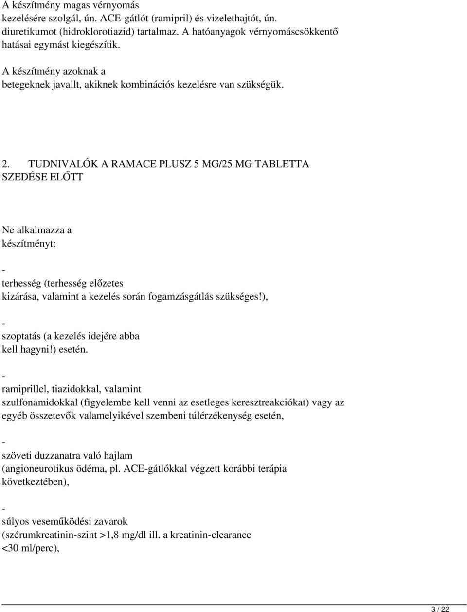 hidroklorotiazid magas vérnyomás esetén)