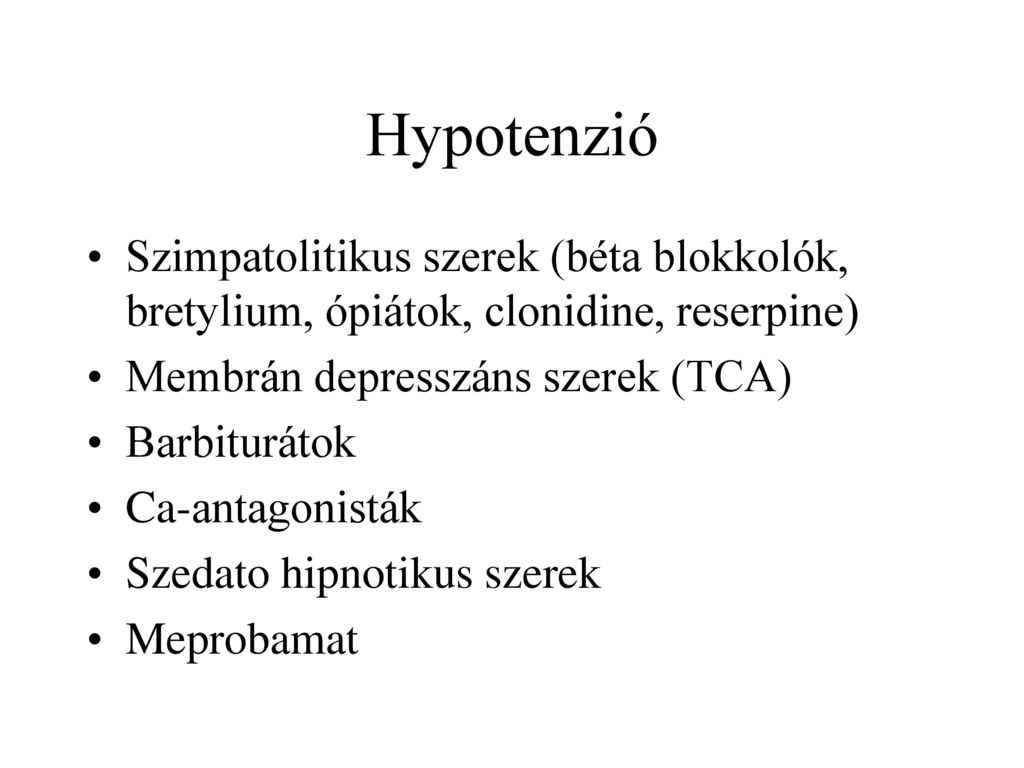 szimpatolitikus hipertónia