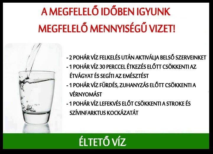 mennyi vizet kell inni 3 fokos magas vérnyomás esetén