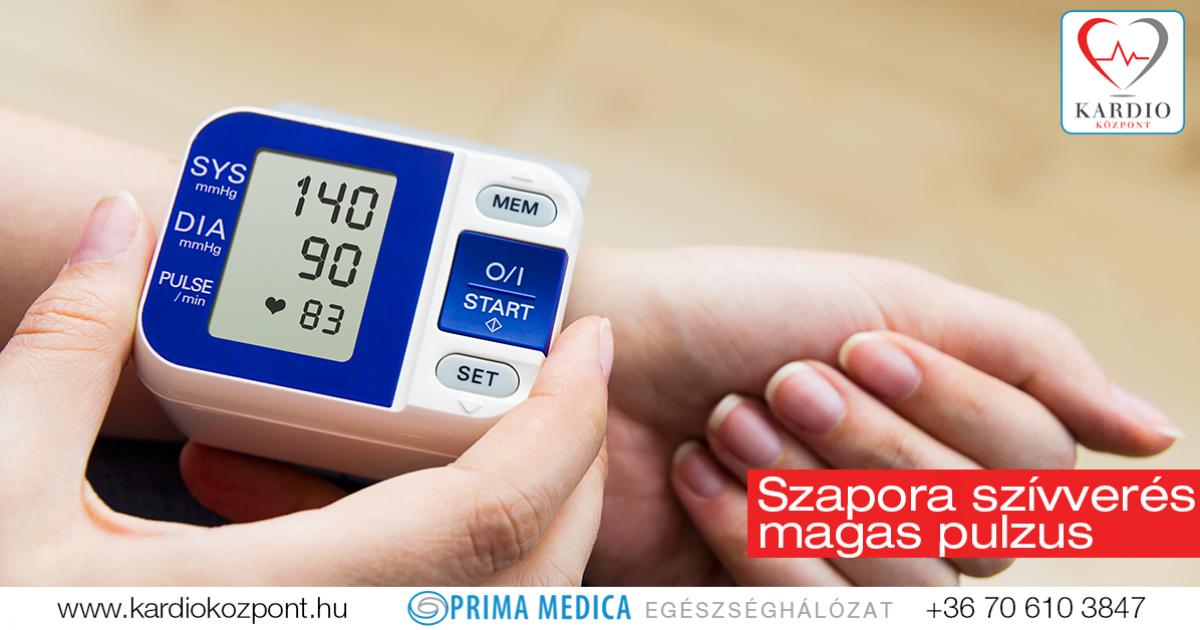 szívdobogás kezelése magas vérnyomás esetén