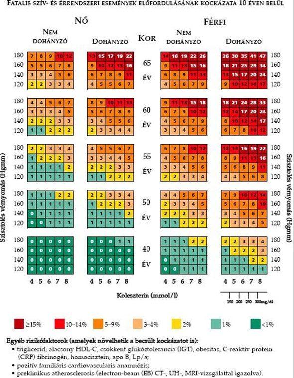 magas vérnyomás kockázati fokozat 4)