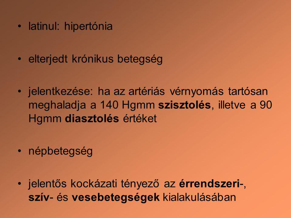 szakaszának magas vérnyomása)