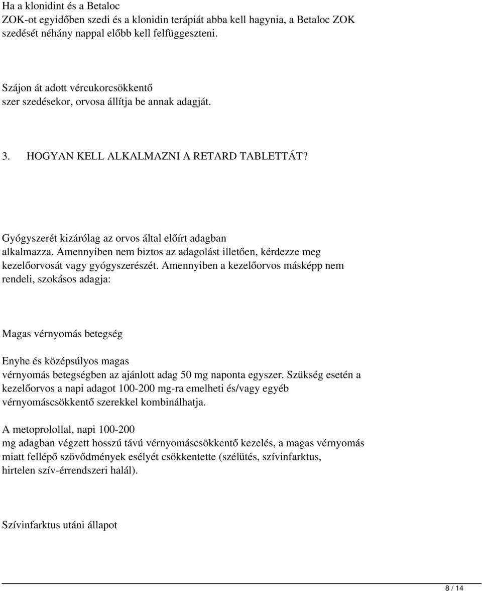 klonidin és magas vérnyomás)