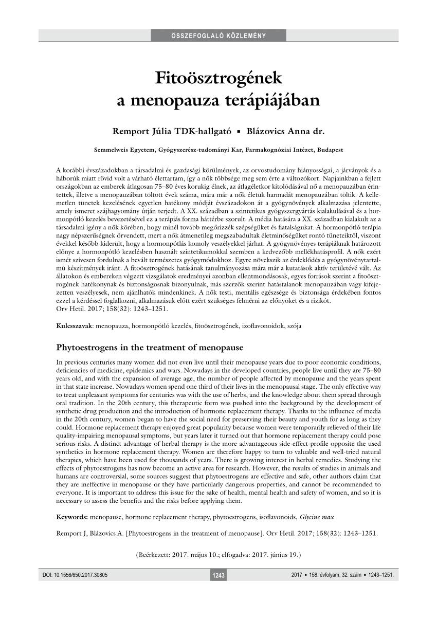 menopauza és magas vérnyomás nőknél